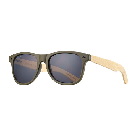 Classic Polarized Sunglasses // Olive Green + Light Brown