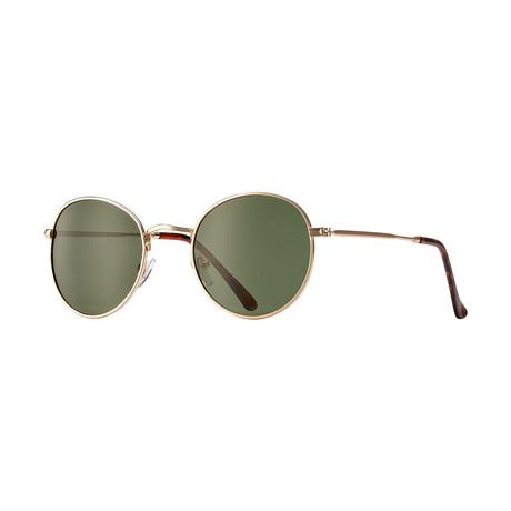 Ash Polarized Sunglasses // Gold + Green
