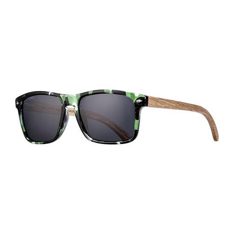 Teller Polarized Sunglasses // Green + Black + Brown