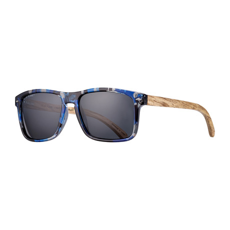 Teller Polarized Sunglasses // Black + Smoke