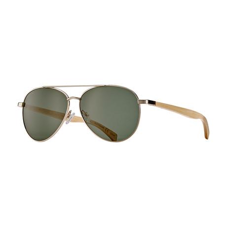 Amador Polarized Sunglasses // Gold + Light Brown