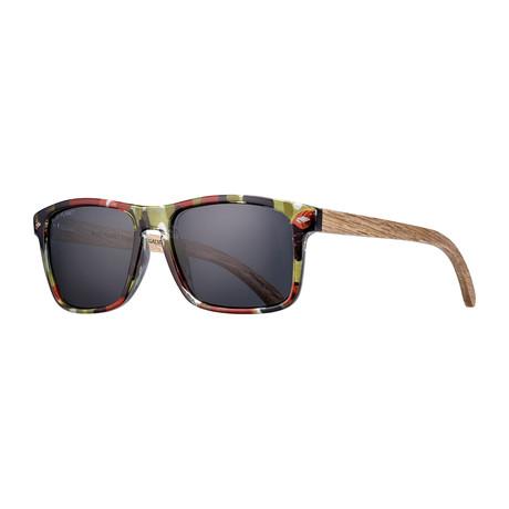 Teller Polarized Sunglasses // Green + Red + Brown