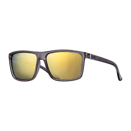Landen Polarized Sunglasses // Crystal Smoke + Silver + Gold