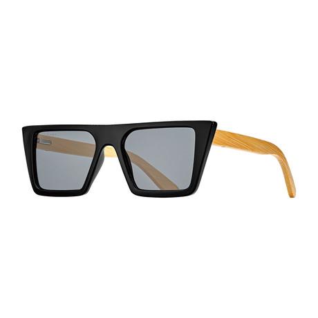 Blasey Polarized Sunglasses // Black Onyx + Bamboo + Smoke