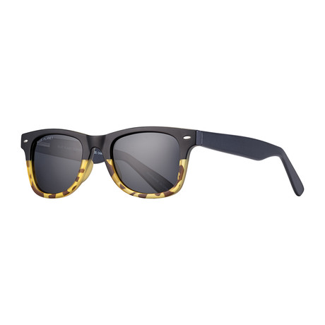Wallace Polarized Sunglasses // Black + Brown