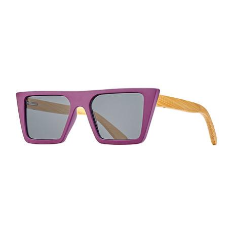 Blasey Polarized Sunglasses (Black Onyx + Bamboo + Smoke)