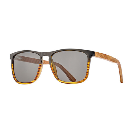 Cail Polarized Sunglasses // Black + Brown
