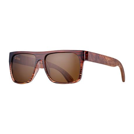 Keegan Polarized Sunglasses // Brown + Rosewood