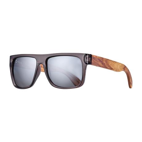 Keegan Polarized Sunglasses // Black + Brown