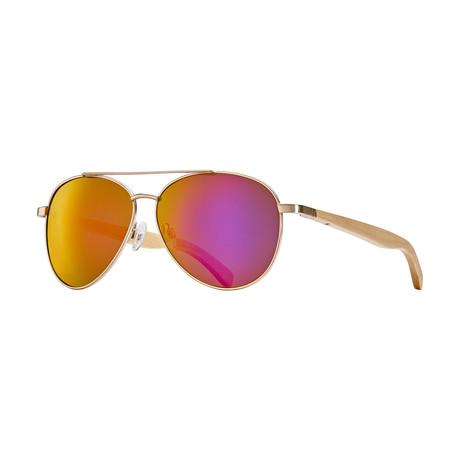Amador Polarized Sunglasses // Brushed Silver + Smoke