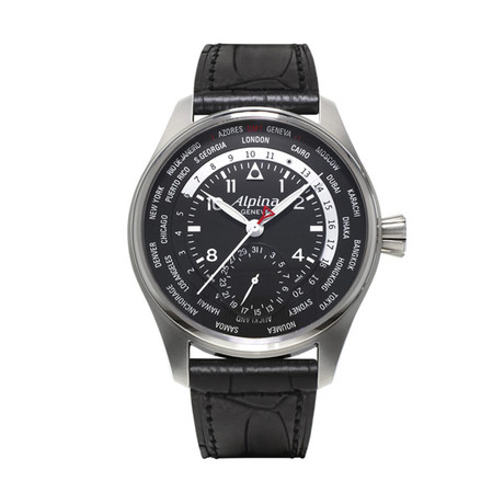 Alpina Startimer Pilot Worldtimer Automatic // AL-718X4SP6 // Store Display