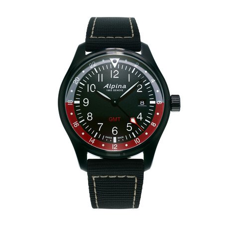 Alpina Startimer Pilot GMT Quartz // AL-247BR4FBS6 // Store Display