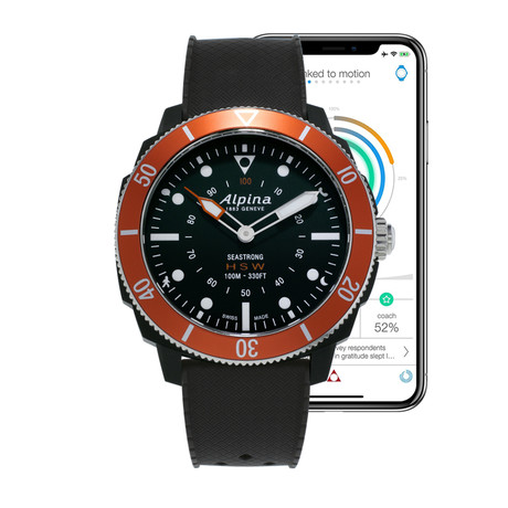 Alpina Seastrong Smartwatch Quartz // AL-282LBO4V6 // Store Display