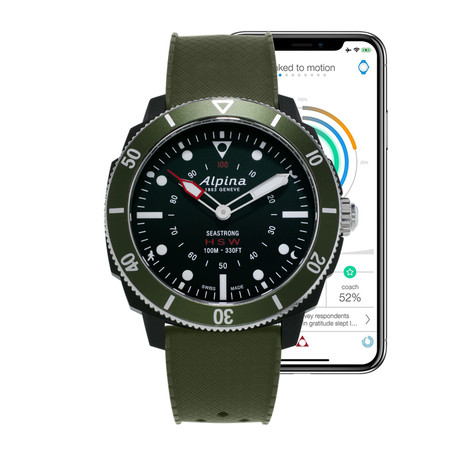 Alpina Seastrong Smartwatch Quartz // AL-262LBGR4V6 // Store Display