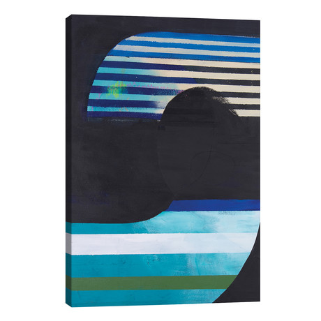 "Saphire & Steel // Kayados Art (12""W x 18""H x 0.75""D)"