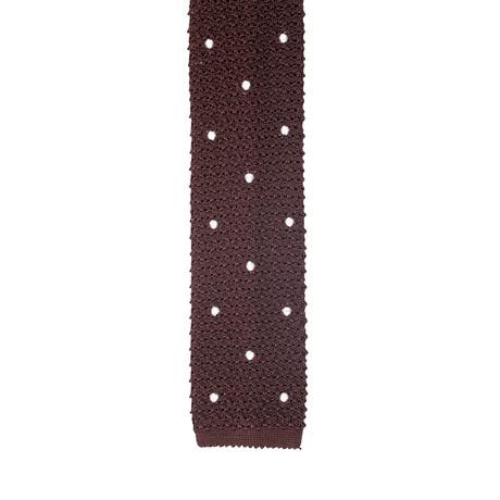 Roda // Skinny Wide Knit Tie V2 // Brown