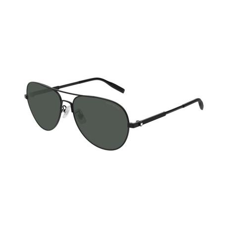 Men's Pilot Aviator Sunglasses // Black