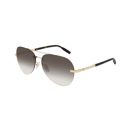 Men's Aviator Sunglasses // Gold