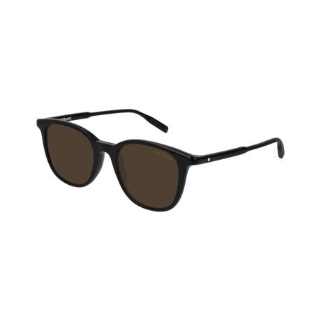 Men's Circular Frame Sunglasses // Black