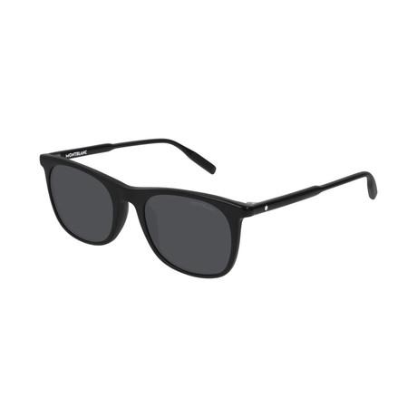 Men's Rectangular Frame Sunglasses // Black