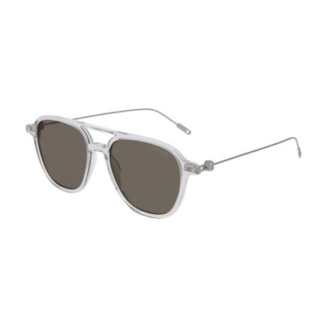 Men's Pilot Frame Sunglasses // Gray