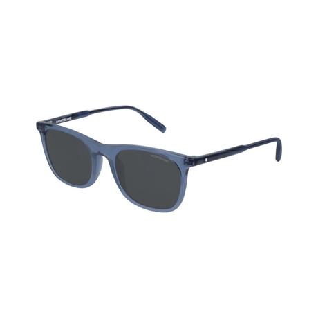 Men's Rectangular Frame Sunglasses // Blue