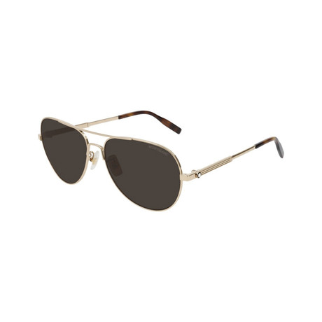 Men's Pilot Aviator Sunglasses // Gold