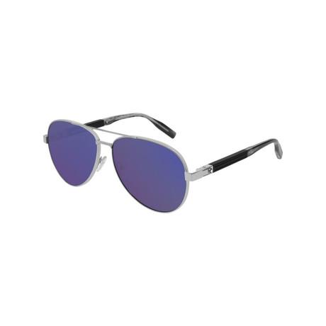 Men's Aviator Sunglasses // Silver