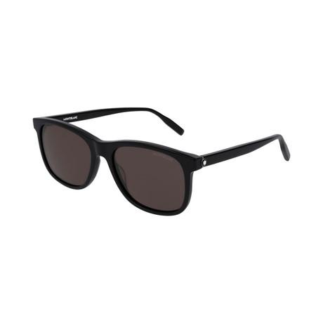 Men's Rectangular Frame Sunglasses // Black II