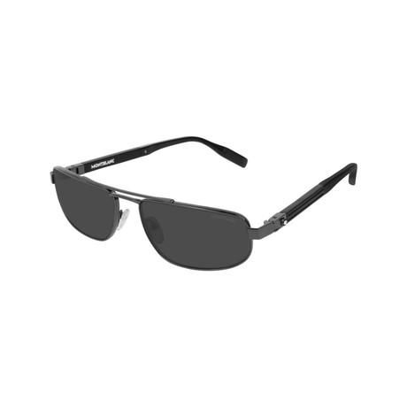 Men's Narrow Rectangular Sunglasses // Black