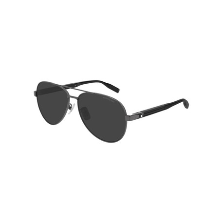Men's Aviator Sunglasses // Black