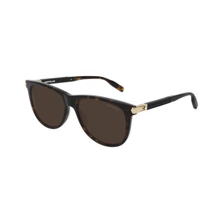 Men's Rectangular Sunglasses // Tortoise