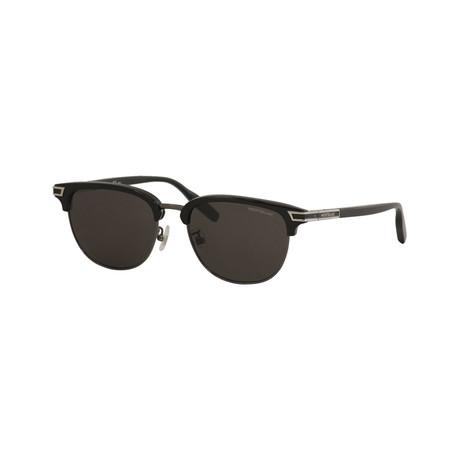 Men's Circular Frame Sunglasses // Black II