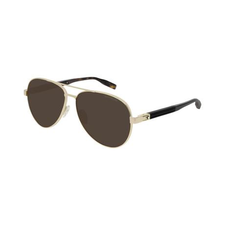 Men's Aviator Sunglasses // Gold II