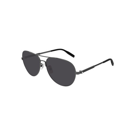 Men's Pilot Aviator Sunglasses // Gunmetal