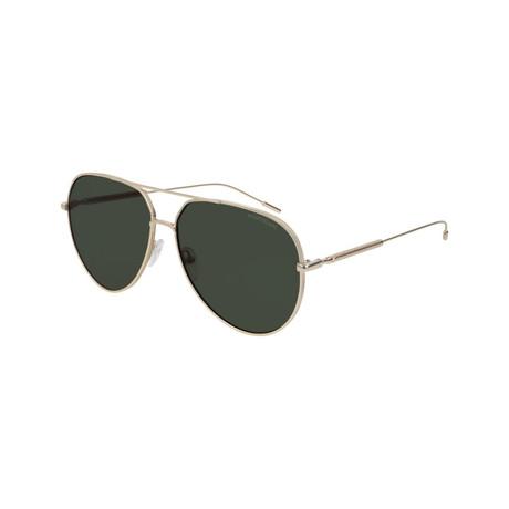 Men's Metal Pilot Sunglasses // Gold
