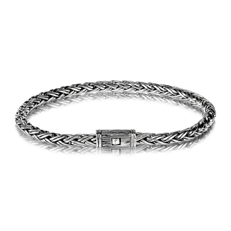 "Contemporary Chain Bracelet // 4mm // Silver (Small // 7.5"")"