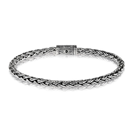 """Contemporary Chain Bracelet // 4mm // Silver (Small // 7.5"""")"""