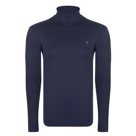 Key Long Sleeve T-Shirt // Navy (S)