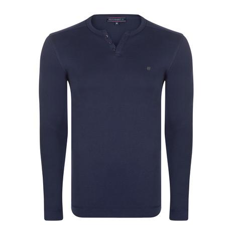 Jeff Long Sleeve T-Shirt // Navy (S)