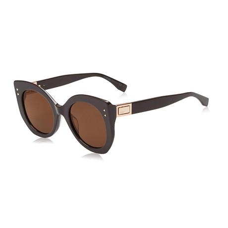 Unisex 0265 Sunglasses // Violet + Brown