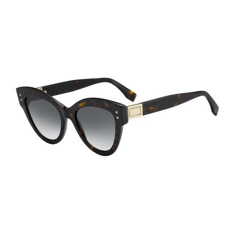 Unisex 0266 Sunglasses // Dark Havana + Dark Gray Gradient