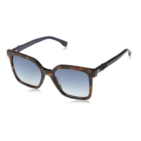 Unisex 0269 Sunglasses // Havana Palladium + Blue Gradient