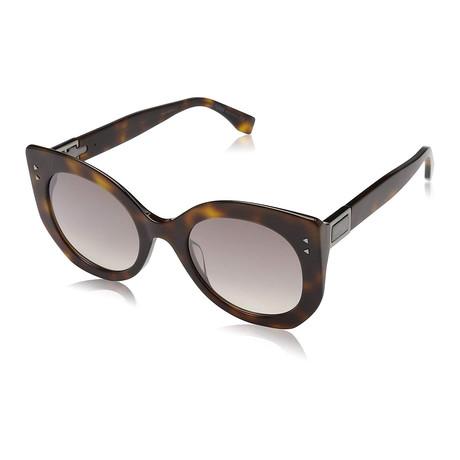 Unisex 0265 Sunglasses // Dark Havana + Brown Mirror Gradient