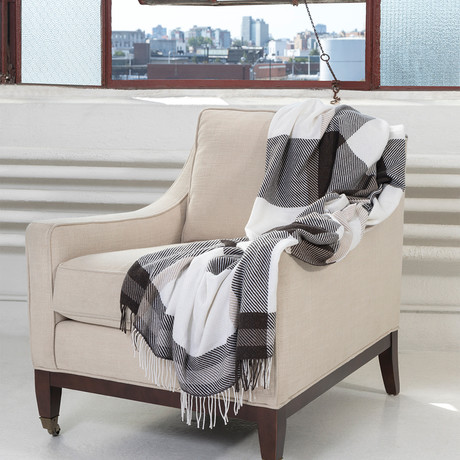 Exploded Plaid Throw // Brown + Natural