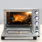 Professional Grade Convection Oven with Built-In Rotisserie & Pizza Drawer