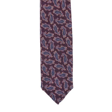 E. Formicola // Paisley Tie // Burgundy