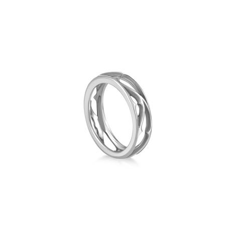Magerit Vital Vidriera 18k White Gold Ring // Ring Size: 9