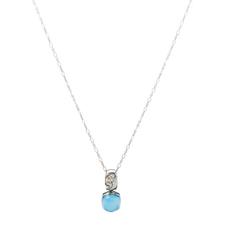 Magerit Babylon Caramelo 18k White Gold Diamond + Topaz Necklace II