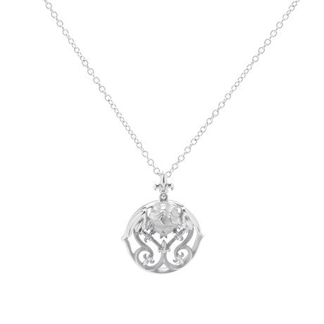 Magerit Versalles Angelito 18k White Gold Pendant Necklace